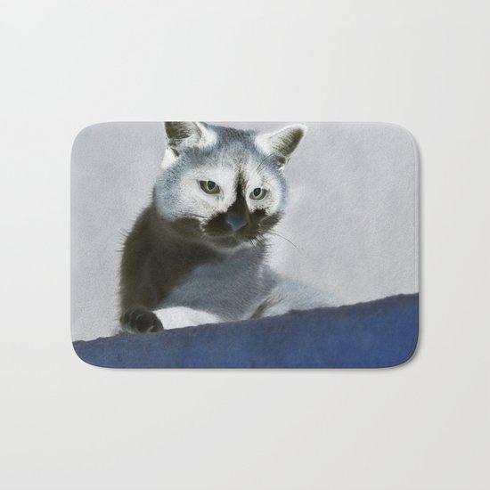 Blue Snow Shoe Cat on the Prowl Bath Mat
