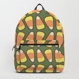 Candy Corn Tango in Forest Green Backpack