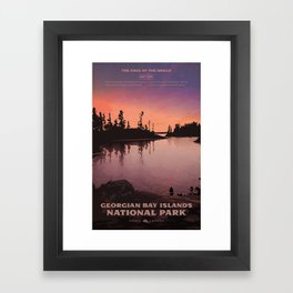 Georgian Bay Islands National Park Framed Art Print