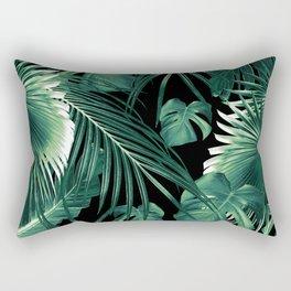 Tropical Jungle Leaves Dream #6 #tropical #decor #art #society6 Rectangular Pillow