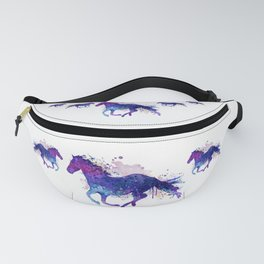 Running Horse Watercolor Silhouette Fanny Pack