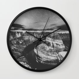 Southwest Starry Night Black and White Wall Clock