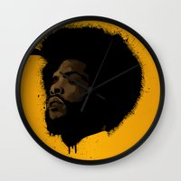 tupac Wall Clocks featuring Questlove 2.0 by The Art Warriors