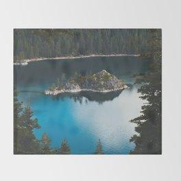 Fannette Island in Emerald Bay - Lake Tahoe, California Throw Blanket