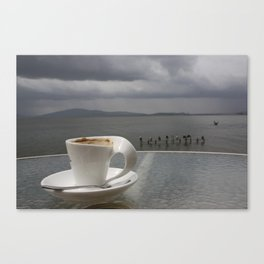 Coffee Before the Storm Canvas Print