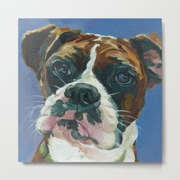Khloe the Boxer Dog Fine Art Portrait Metal Print