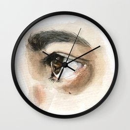 Brown Eye Study Wall Clock