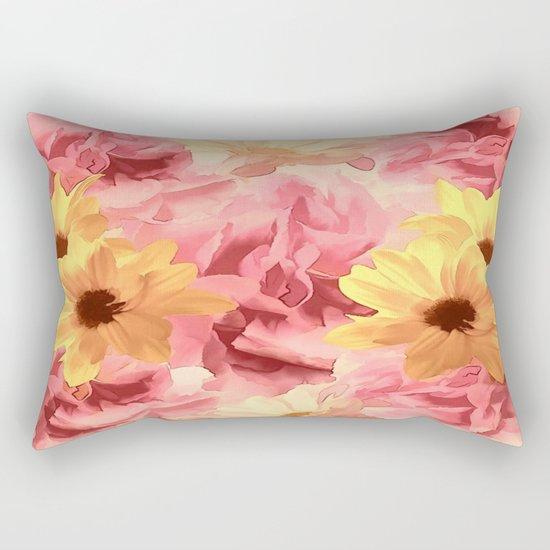 Summer Day Floral  Rectangular Pillow