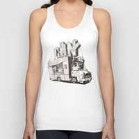 truck Tank Tops featuring Shopping Truck by Mitt Roshin