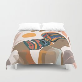 Women with the Turbans Duvet Cover