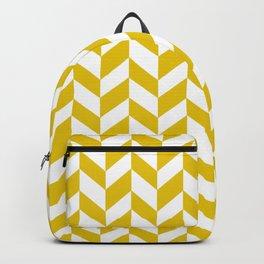 Herringbone Texture (Gold & White) Backpack