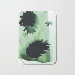 Photogram, pine cones, negative, green Bath Mat