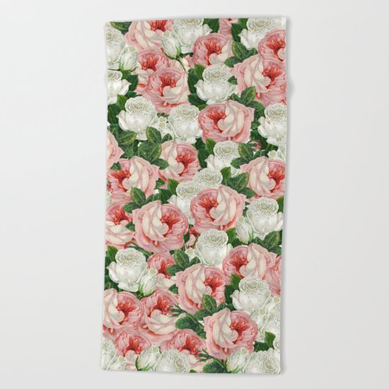 Juliet -  Romantic Roses Beach Towel