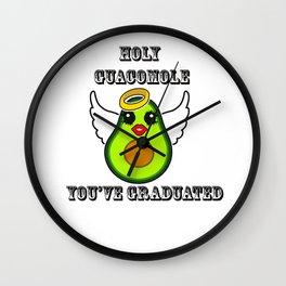 Holy Guacamole Kawaii You've Graduated Wall Clock