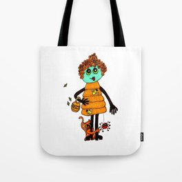 Beehive with Cat Tote Bag