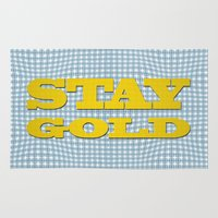 stay gold Area & Throw Rugs featuring Stay Gold by abominable