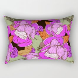 Camellias in Pink Rectangular Pillow