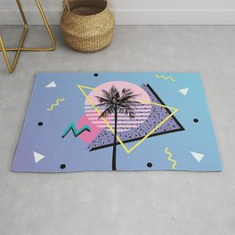 Memphis pattern 46 - 80s / 90s Retro / Palm Tree Rug