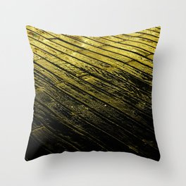 abstract fine art photography light water reflection pattern wood texture Throw Pillow
