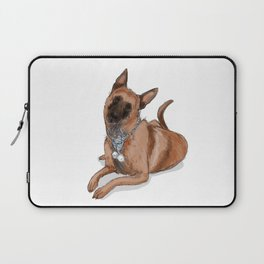 Kella, the Belgian Malinois in Blue Laptop Sleeve