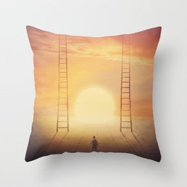 choose the ladder to paradise Throw Pillow