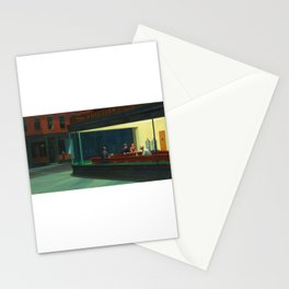 Nighthawks - Edward Hopper Stationery Cards