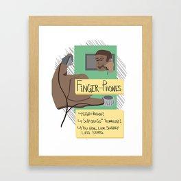 Finger Phones Framed Art Print