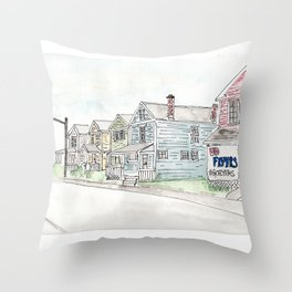 University of Dayton Student Neighborhood, Ghetto, UD Throw Pillow