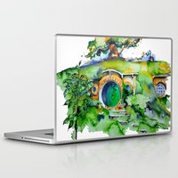 hobbit Laptop & iPad Skins featuring hobbit hole by Jonny Moochie