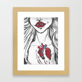 HeartLess by Gaia O. Framed Art Print