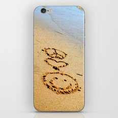 Peace Love and Happiness iPhone & iPod Skin