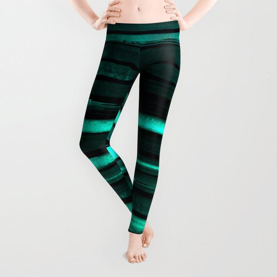 We Have Cold Winter Teal Dreams At Night Leggings