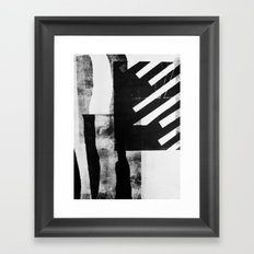 Monotype I Framed Art Print