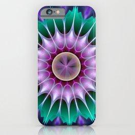 Starry kaleidscope flower iPhone Case