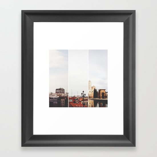 Above Madrid Framed Art Print