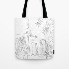 San Salvador El Salvador LDS Temple Sketch Tote Bag
