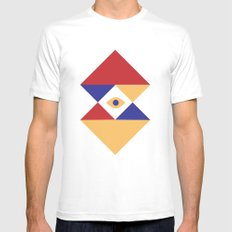 T R I | Eye Mens Fitted Tee White MEDIUM