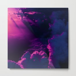 Vaporwave In The Clouds Metal Print
