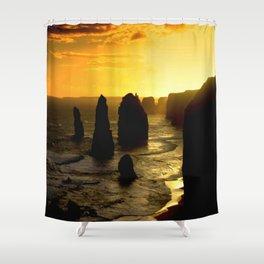 Sunset over the Twelve Apostles - Australia Shower Curtain