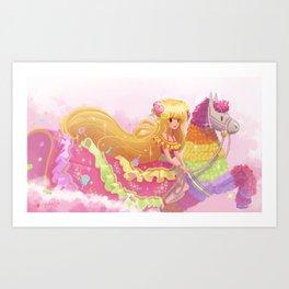 Princess Pinata Art Print