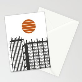 City in construction Stationery Cards