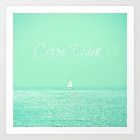 carpe diem Art Prints featuring Carpe Diem by RDelean