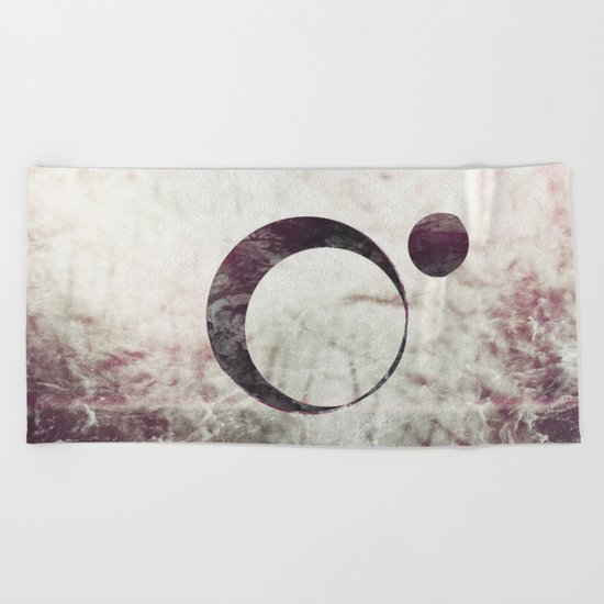 Abstract Moons #faded Beach Towel