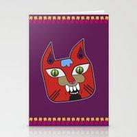 diablo Stationery Cards featuring Gato Diablo by Scribblebro