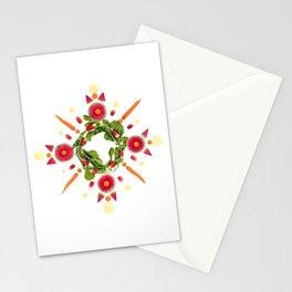 French Breakfast Radish Snowflake Stationery Cards