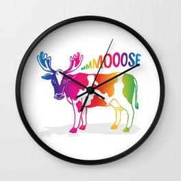 Mmmoooose Wall Clock