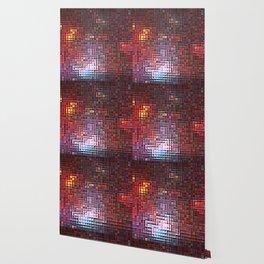 Burgundy Nebula Pixels Wallpaper