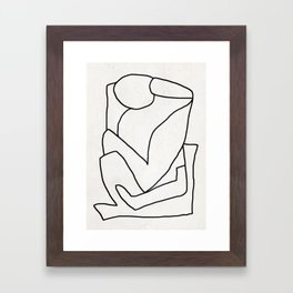 Abstract line art 2 Framed Art Print