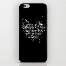Heart2 Black iPhone & iPod Skin