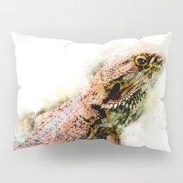 Iguana in watercolor Pillow Sham